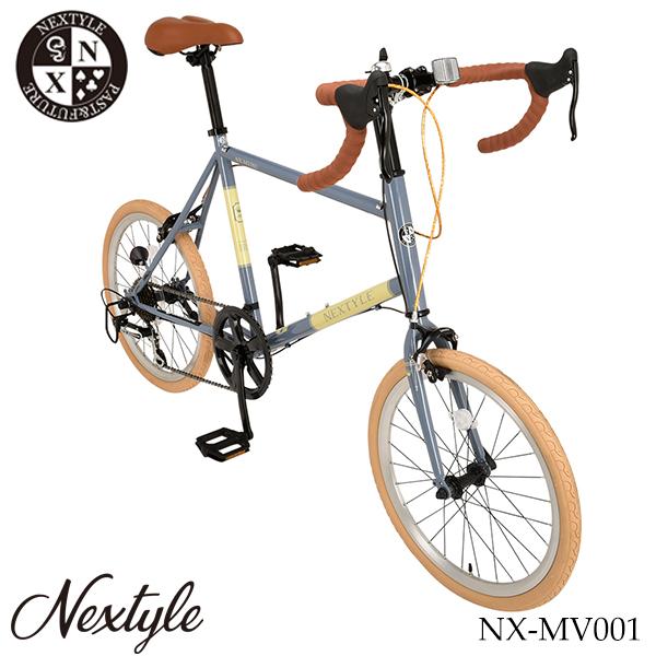 プレゼント ライト ネクスタイル NEXTYLE カギ 20インチ ミニベロ NX-MV001【組立必要品】 小径自転車 ミニベロロード シマノ7段変速
