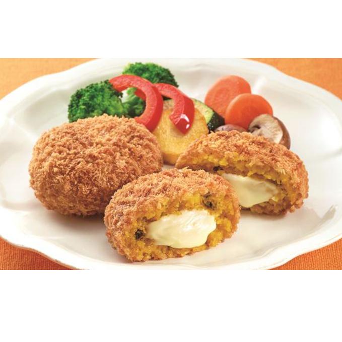 【ふるさと納税】北海道産チーズを使ったとろ~りチーズソースのかぼちゃ包み揚げ 【加工品・惣菜・冷凍・加工食品・乳製品・チーズ】