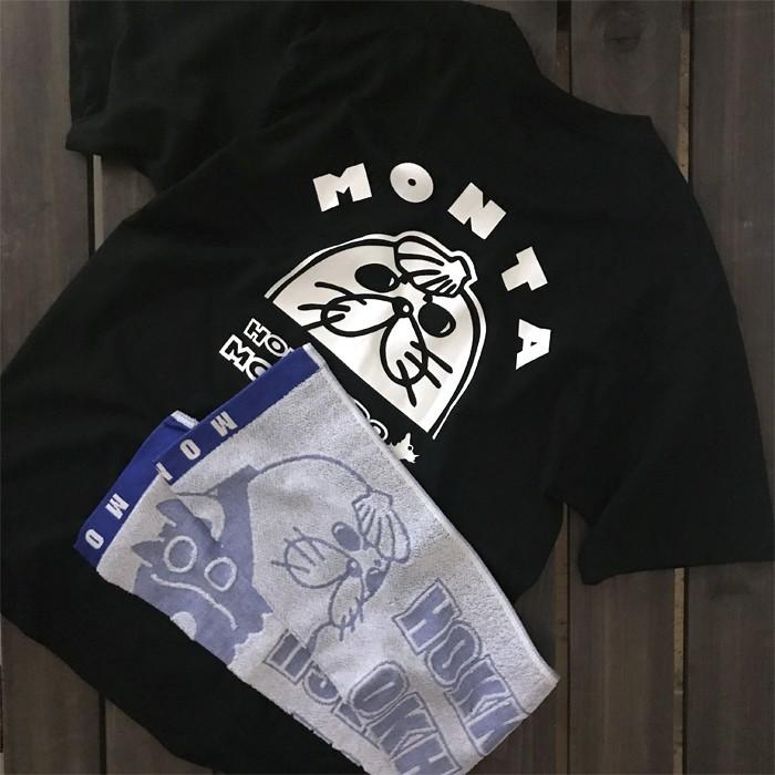 【ふるさと納税】11-16 ゆるキャラ紋太グッズ(Tシャツ[ブラックL]、タオル[ブルー])