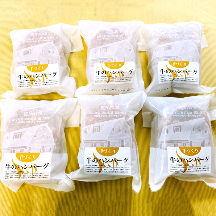 【ふるさと納税】15-62 手作りビーフハンバーグ 6パック