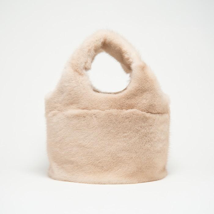 【ふるさと納税】170-30 ミンクオーバルバッグ(パロミノ)