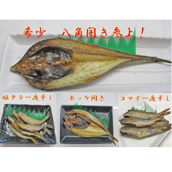 【ふるさと納税】10-181 厳選 八角入り!!オホーツクの美味しい魚干物セット