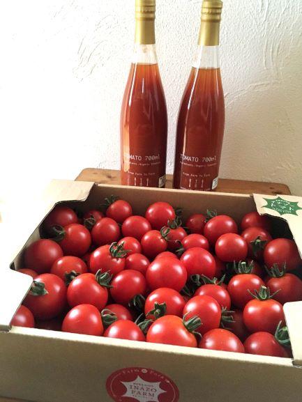 【ふるさと納税】【予約受付】C101 有機イナゾートマト 2kgと有機トマトジュース 【2本】