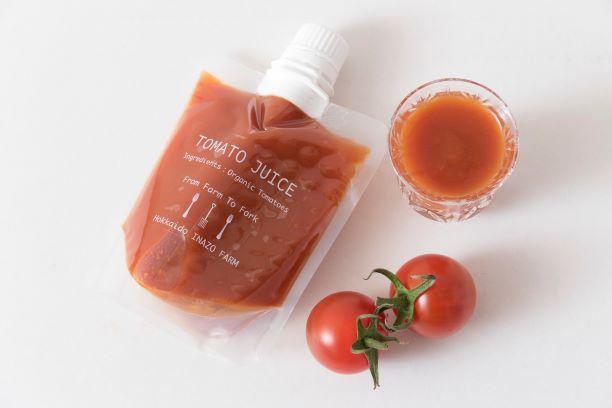 【ふるさと納税】B104【期間限定】有機JASフルーツイナゾートマト1kg 有機トマトジュースパウチ7個