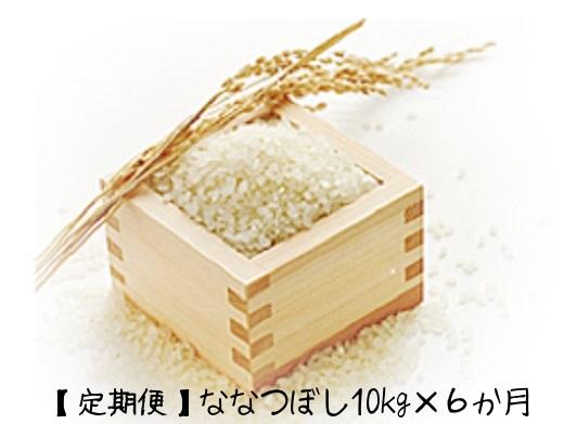 【ふるさと納税】『定期便』北海道名寄産「ななつぼし」10kg×6ヶ月分