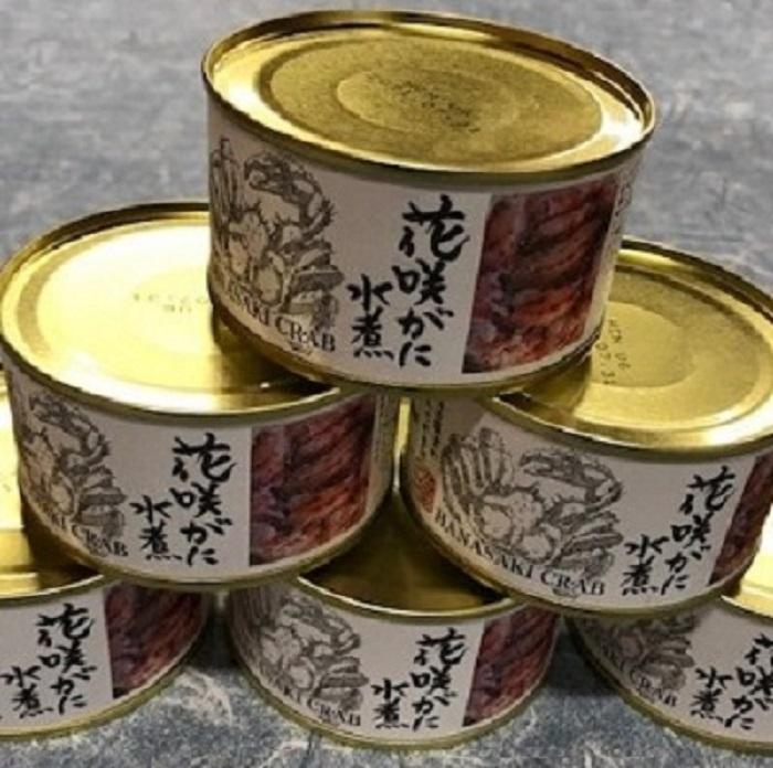 【ふるさと納税】[北海道根室産]花咲がに水煮6缶 D-78001