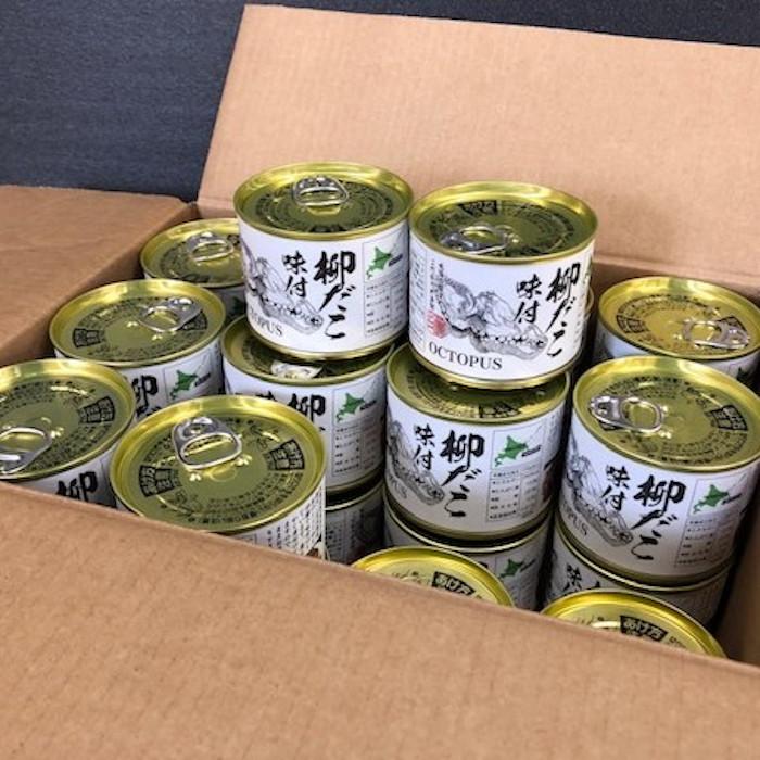 【ふるさと納税】[北海道根室産]柳だこ味付24缶 D-78004