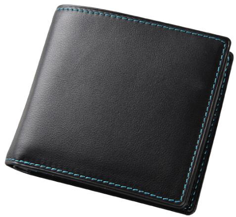 【ふるさと納税】[FE-02]SOMES FE-02 2つ折財布(ブラック)