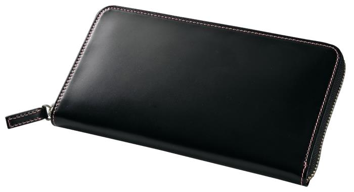 【ふるさと納税】[CNT-04] SOMES CNT-04ラウンド財布(ブラック)