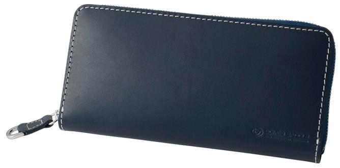 【ふるさと納税】[PA-11]SOMES PA-11 ラウンド財布(ネイビー)