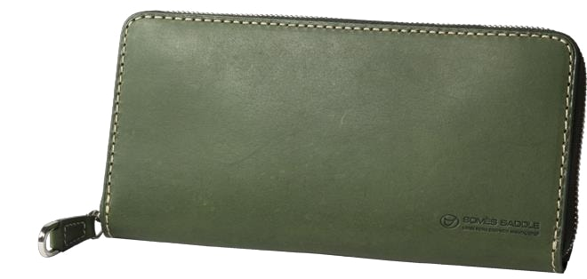 【ふるさと納税】[PA-11]SOMES PA-11 ラウンド財布(グリーン)