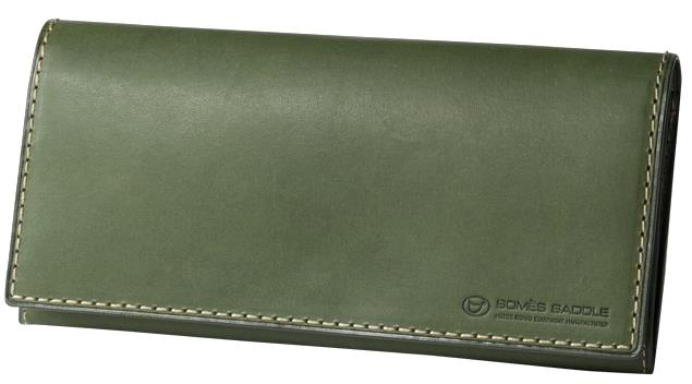 【ふるさと納税】[PA-12]SOMES PA-12 長財布(グリーン)