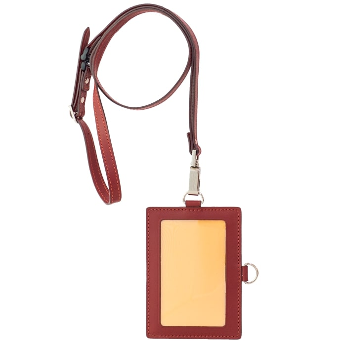 【ふるさと納税】[AN-76] SOMES AN-76 IDカードケース&ネックストラップ(ワイン) 革 革製品