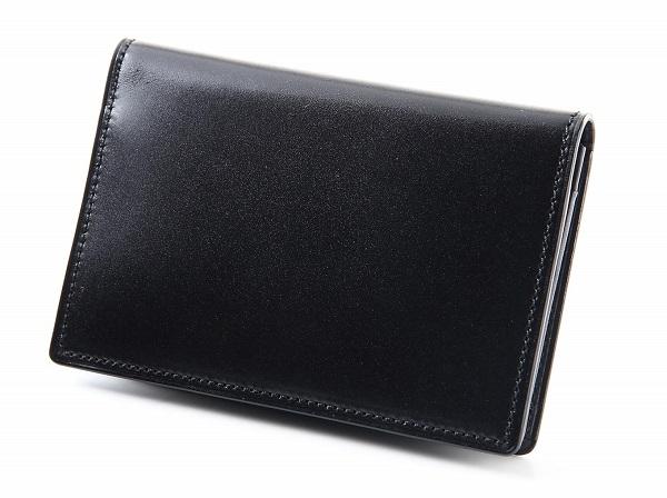 即納最大半額 ふるさと納税 DM-07 SOMES 未使用品 名刺入れ コードバン ブラック 革製品 革