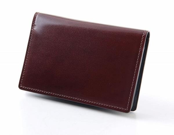 ふるさと納税 DM-07 海外輸入 SOMES 名刺入れ 革製品 ブラウン コードバン 革 買取