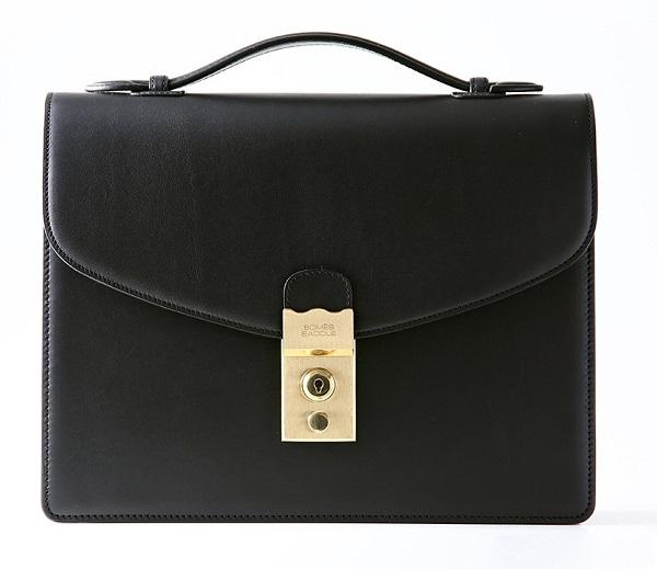 ふるさと納税 本物 EX-01 SOMES EX-01セカンドバッグ1 ブラック 革 ビジネス 鞄 お歳暮 革鞄 バッグ 革バッグ 革製品