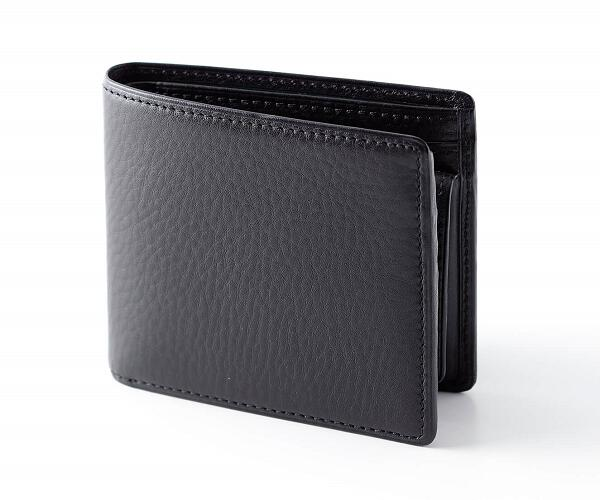 ふるさと納税 FE-12 SOMES 2つ折財布 革製品 革 特価 ブラック 激安価格と即納で通信販売 財布