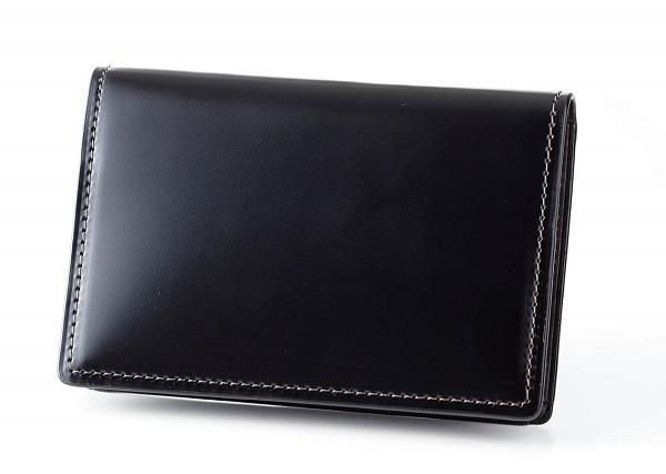 ふるさと納税 HV-03 SOMES 名刺入れ 激安卸販売新品 通信販売 ブラック コードバン 革製品 馬革 革