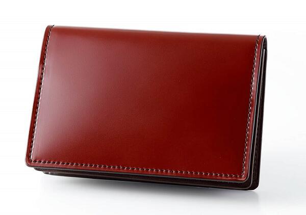 ふるさと納税 HV-03 SOMES 名刺入れ ダークブラウン 革 革製品 コードバン 馬革 供え 高い素材