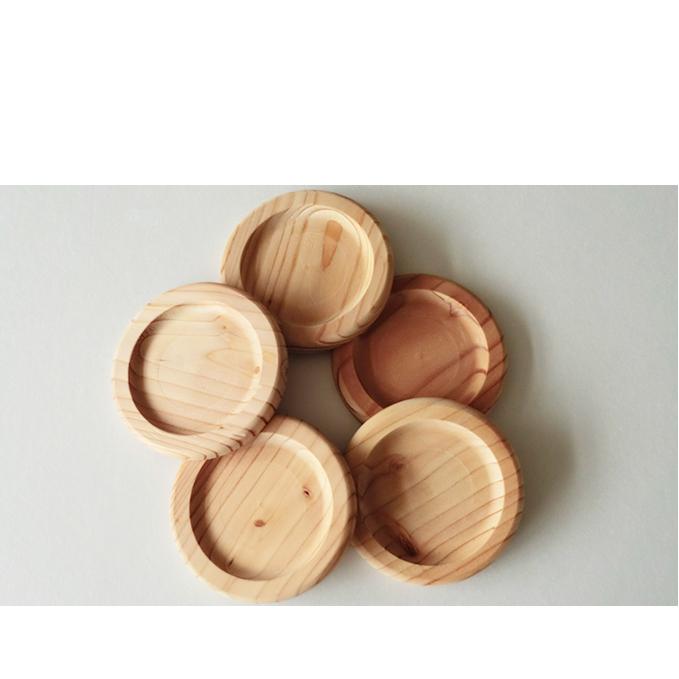 【ふるさと納税】あいもり 北海道産木製コースター 【雑貨・日用品】