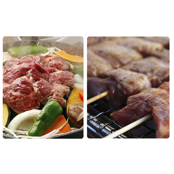 【ふるさと納税】伊達ジンギスカン400g&黄金豚の豚串16本セット 【お肉・豚肉】