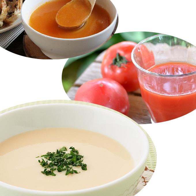 【ふるさと納税】北海道・くっちゃん野菜のスープ&トマトジュースセット 【果汁飲料・野菜飲料・トマトジュース】