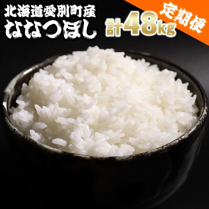 【ふるさと納税】愛別町産米(ななつぼし2kg×2袋)12ヶ月定期配送【A42324】