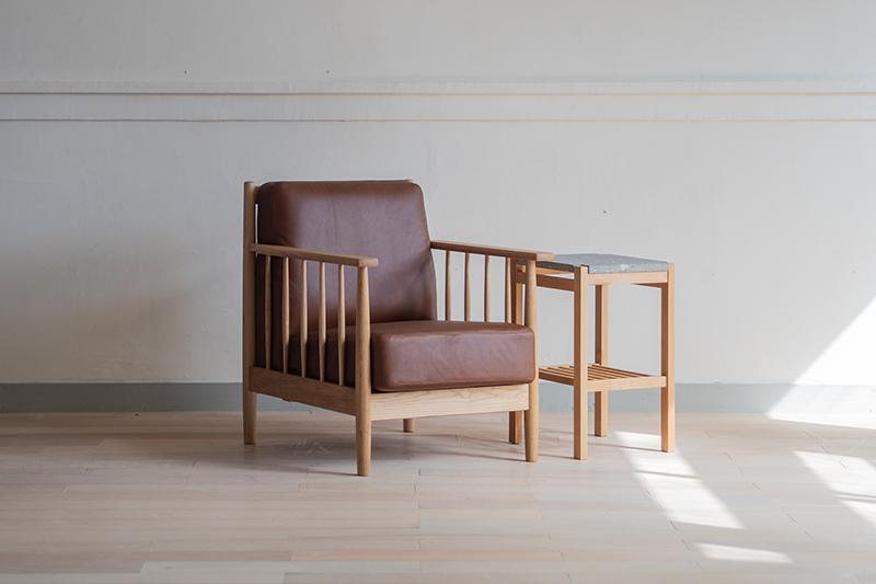 【ふるさと納税】Spoke Sofa S+n'frame Side Table Stone
