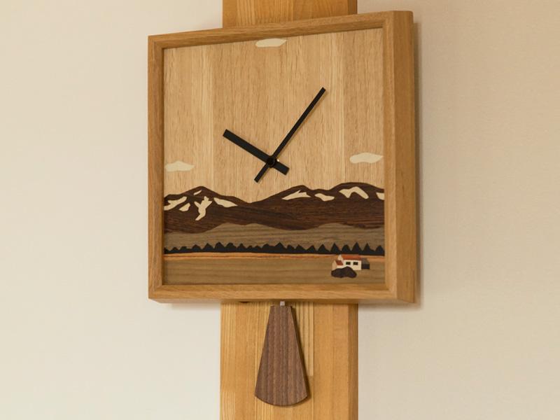 【ふるさと納税】象嵌細工の時計