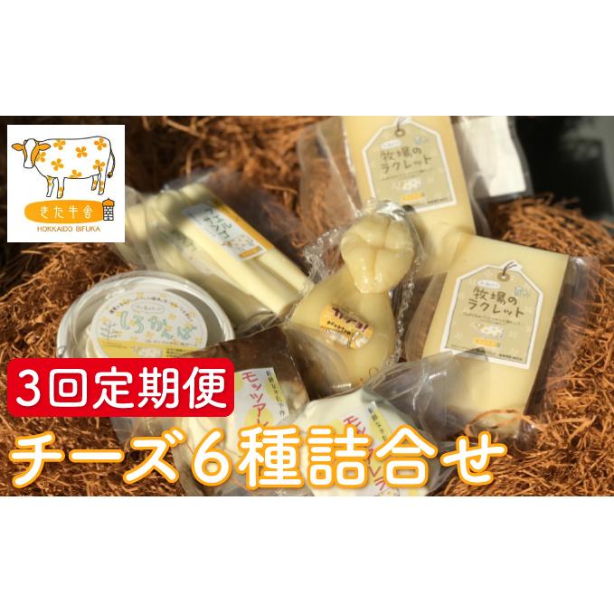 【ふるさと納税】北海道美深町 チーズ6種詰め合わせ 3回定期便 【北ぎゅう舎】 【定期便・加工食品・乳製品・チーズ】
