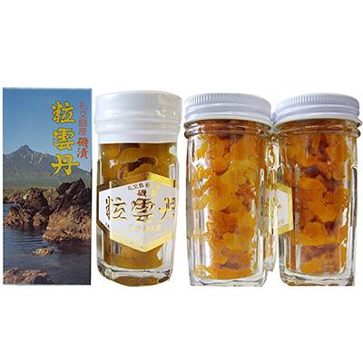 【ふるさと納税】北海道礼文島産 粒うに一夜漬け ビン詰セット 2種×3本 【魚貝類・雲丹】
