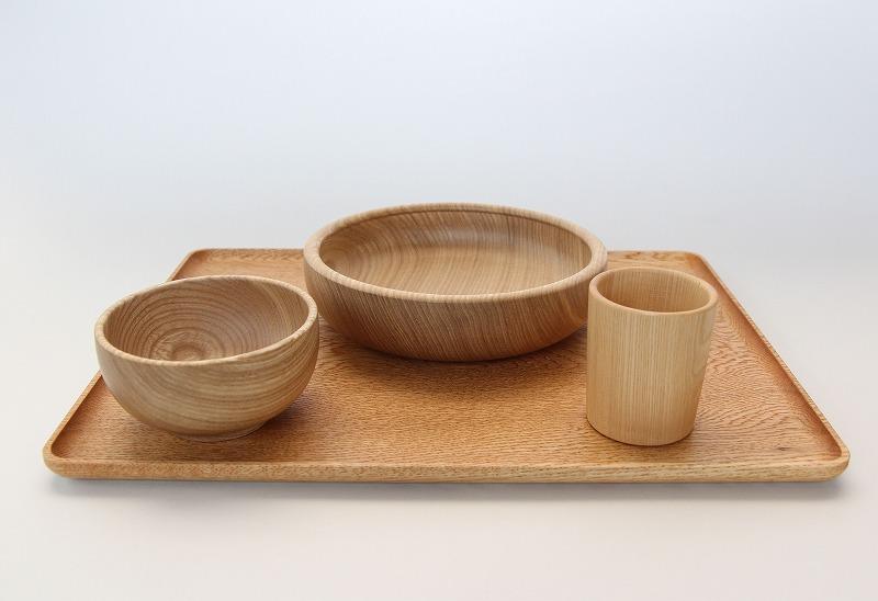 【ふるさと納税】山上木工 食器セット (北海道産セン仕様)