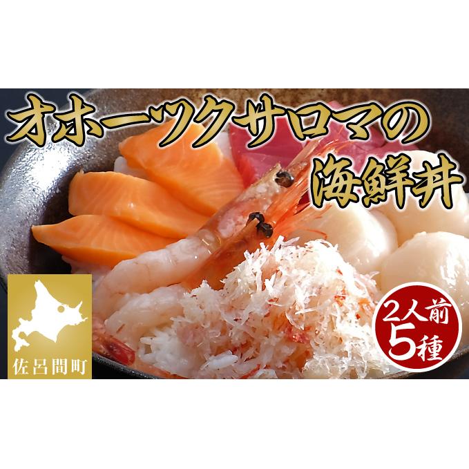 【ふるさと納税】なまら美味い!これがサロマの海鮮丼!5種(2人用) 【魚介類・魚貝類・加工食品】
