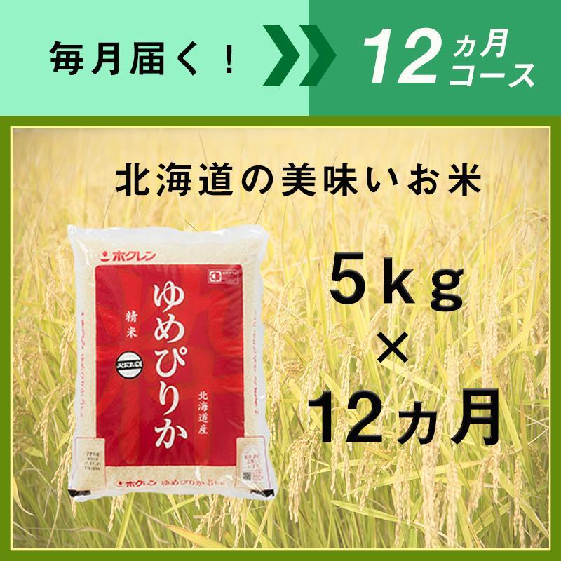 【ふるさと納税】12ヵ月定期便!最高のお米「ゆめぴりか」毎月5kgコース