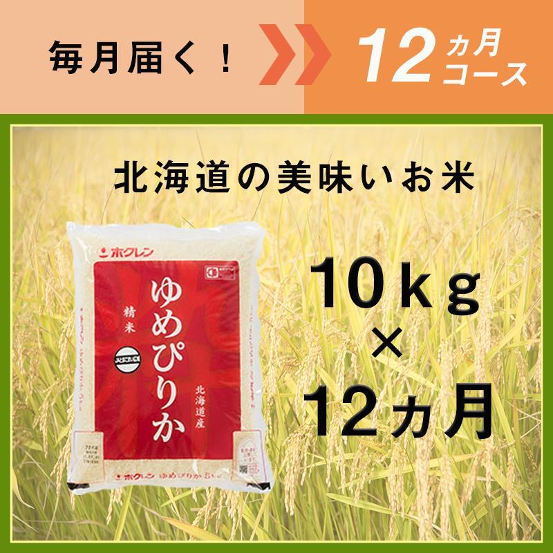 【ふるさと納税】12ヵ月定期便!最高のお米「ゆめぴりか」毎月10kgコース