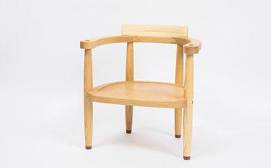【ふるさと納税】工房 外山の天然木子ども椅子【受注生産】