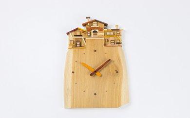【ふるさと納税】工房外山の天然木掛け時計【受注生産】