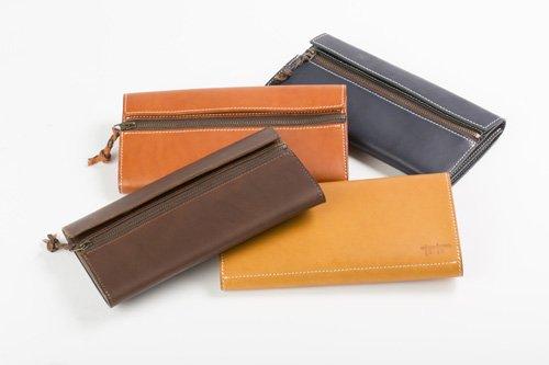 【ふるさと納税】tanikoオリジナル財布(紺)