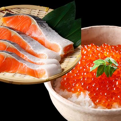 【ふるさと納税】大助といくらの親子丼セット 【魚貝類・鮭・サーモン】