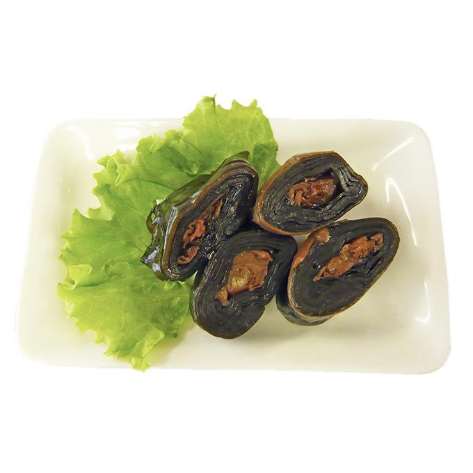 【ふるさと納税】北海道産蝦夷ほたて巻5本セット 【魚貝類・こんぶ巻き】