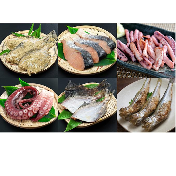 北海道日高町 ふるさと納税 漁師手作り魚詰め合わせセットB 魚介類 魚貝類 鮭 カレイ いか たこ ししゃも 新作 大人気 セット 人気 おすすめ 詰め合わせ