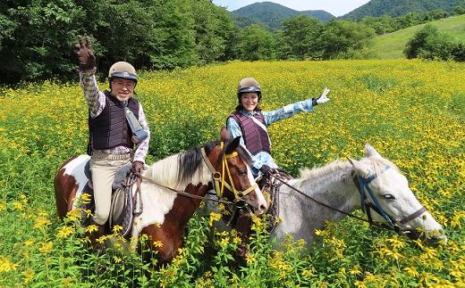【ふるさと納税】乗馬体験90分×1名駈歩(かけあし)コース[B07-809]