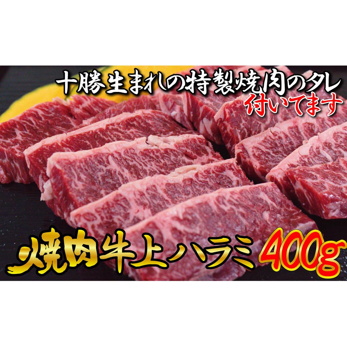 北海道幕別町 ふるさと納税 牛上ハラミ サガリ 400g タレ付き焼肉セット 待望 調味料 焼肉 たれ WEB限定 お届け:2~3ヶ月お時間がかかる場合があります 牛肉 お肉