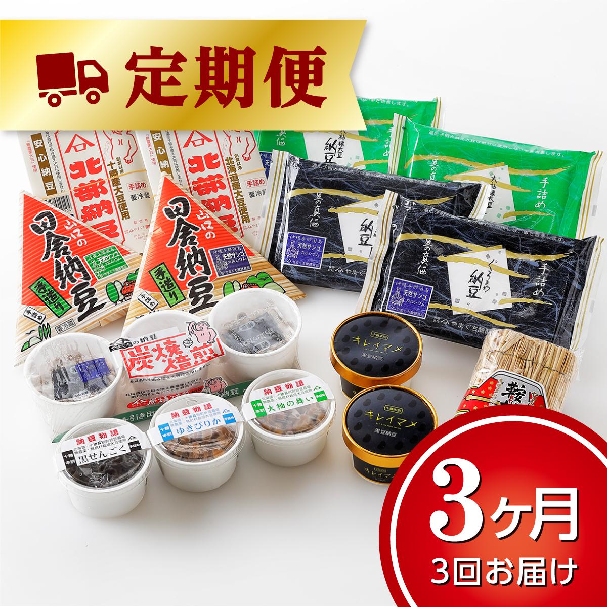 【ふるさと納税】北海道十勝やまぐち醗酵食品「手詰め納豆」10種15個入【3ヶ月便】
