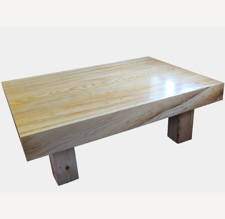 【ふるさと納税】アカエゾマツ一枚天板(約10cm)座卓