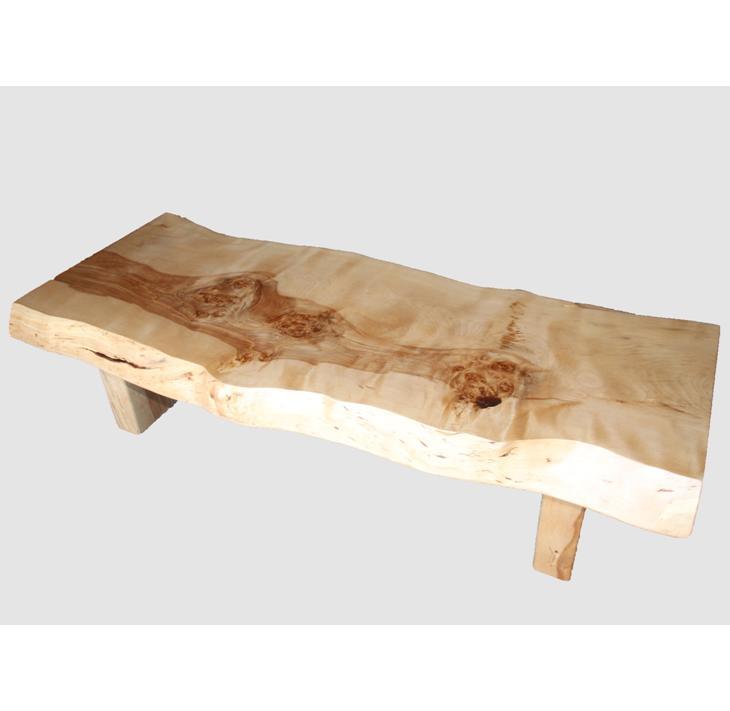 【ふるさと納税】[35]座卓(テーブル)マカバ・一枚天板【厚さ約7.5cm】
