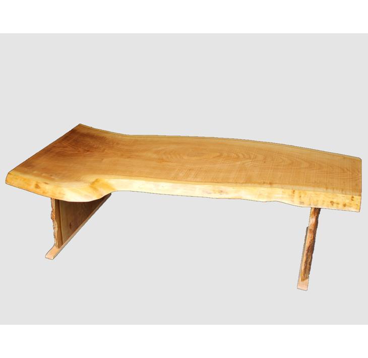 【ふるさと納税】[03]座卓(テーブル)キハダ・一枚天板【厚さ約3cm 7kg】