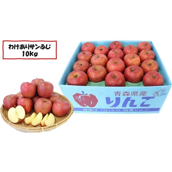 【ふるさと納税】2月~3月下旬発送「わけあり」サンふじ 約10kg【弘前市産·青森りんご】 【果物類·林檎·りんご·リンゴ·サンふじ·約10kg·訳あり】 お届け:2021年2月下旬~3月下旬