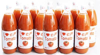 七戸町の農家が栽培した「りんか409」という品種のトマトで作った果汁100%のトマトジュースです。程よい酸味があり、さっぱりとした飲み心地です。 アイラブ七戸トマトジュース C【1000ml×12本】 【ふるさと納税】