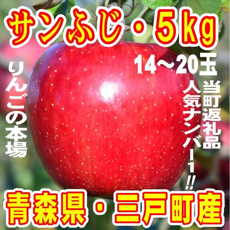 青森県三戸町 【ふるさと納税】りんご「サンふじ」14〜20玉 約5k...
